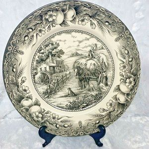"Royal Stafford Dinner Plate 11"" England Gray Hay R"